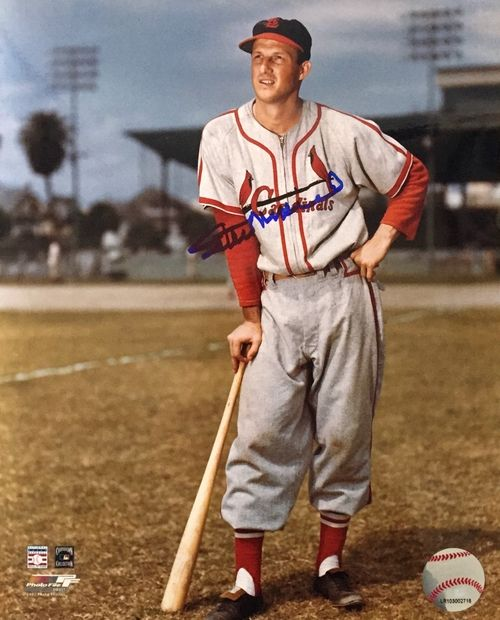 Stan Musial Autographed St. Louis Cardinals 8x10 Photo SI