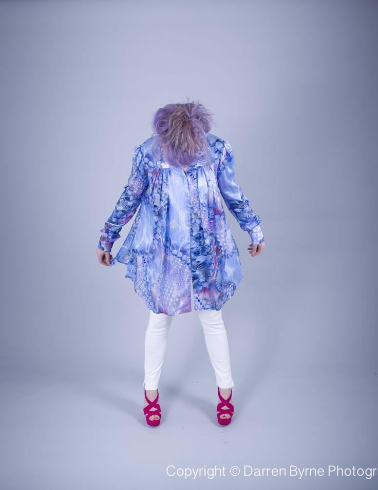 Silk Blouse by Louise Rawlins. Irish Couture, Powerscourt Townhouse Centre, Dublin 2, Ireland.