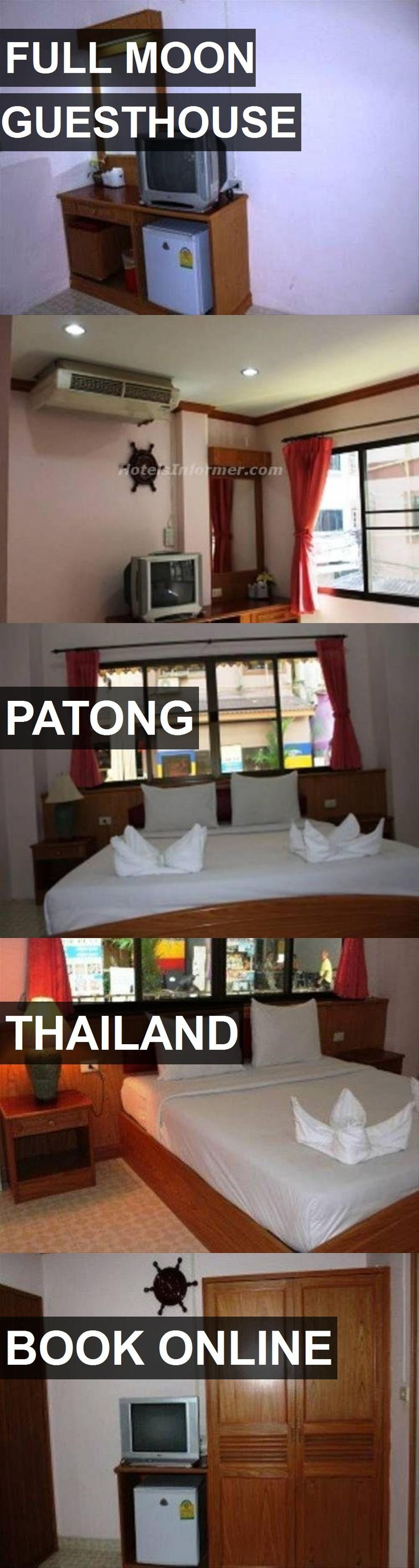 Hotel FULL MOON GUESTHOUSE in Patong, Thailand. For more information, photos, reviews and best prices please follow the link. #Thailand #Patong #travel #vacation #hotel