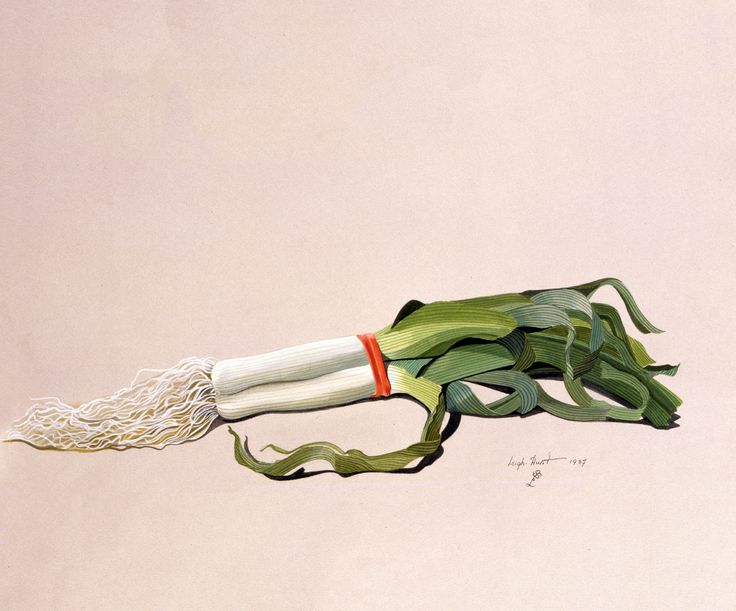 Helena Leigh-Hunt Leeks with a Red Rubber Band 1987