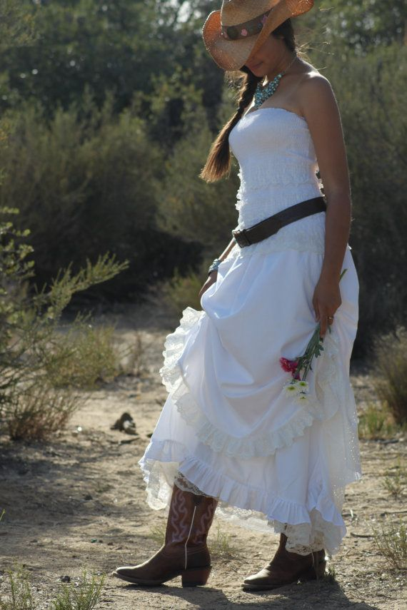 Listing for johanna country western prairie cowgirl for Country western wedding dresses