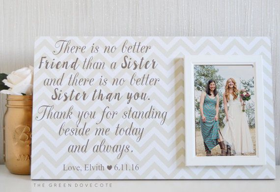 Wedding Gift For Sister Of The Bride : Sister Of The Bride Gift - Bridesmaid Gift - Personalized Wedding Gift ...