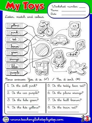 My Toys - Worksheet 7