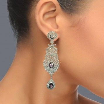 Featuring these Beautiful Zircon & Amethyst Earrings in our wide range of Earrings. Grab yourself one. Now!