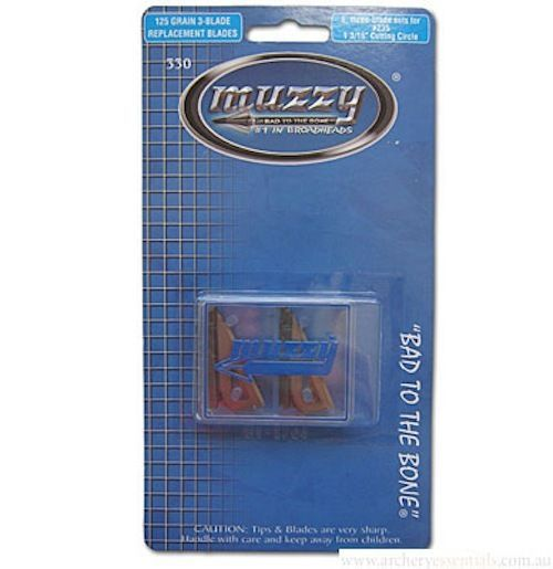 Muzzy - 125 GR 3-BLADE REPLACEMENT BLADES