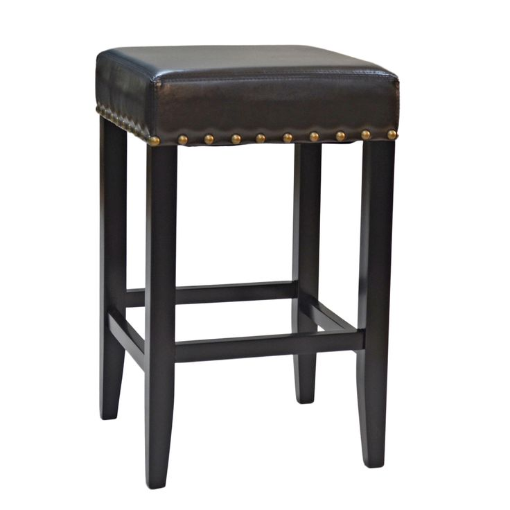 Marco 25 Inch Upholstered Nailhead Counter Stool