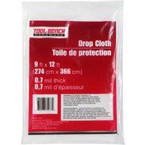 bulk tool bench plastic drop cloths 9x12u0027 at