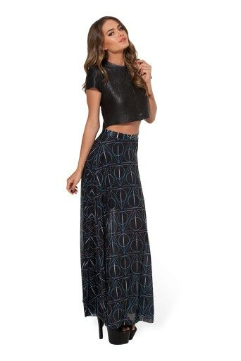 Deathly Hallows sheer maxi skirt