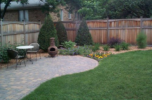 Curved Paver Patio Small Yard Ideas For Home Small