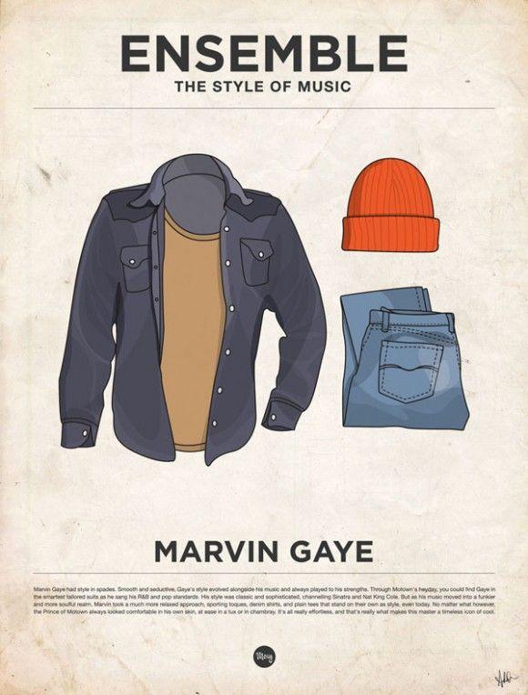Musique, affiches minimalistes et vêtements vetements habits musique poster affiche minimaliste 13 design