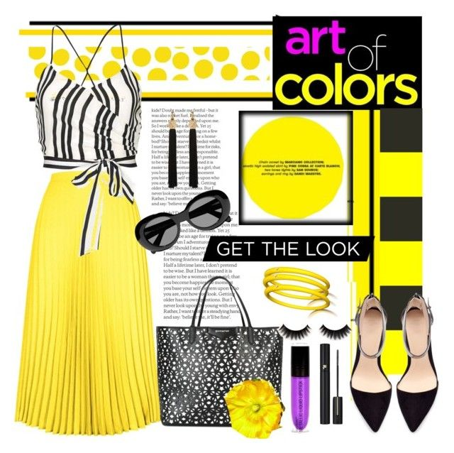 """""""Bold color"""" by bravo1755 ❤ liked on Polyvore featuring HotSquash, Jennifer Paganelli, Acne Studios, Alice + Olivia, Givenchy, Zara, Yves Saint Laurent and Lancôme"""