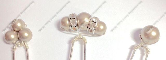 Chamapgne Diamante Hair Pins - Bridal Hair Accessories - Bridesmaids Hair Acces £7.50