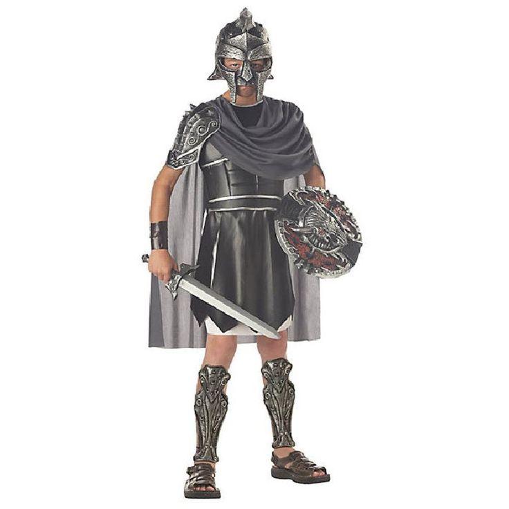 Boys Roman Gladiator Costume, Boy's, Multicolor
