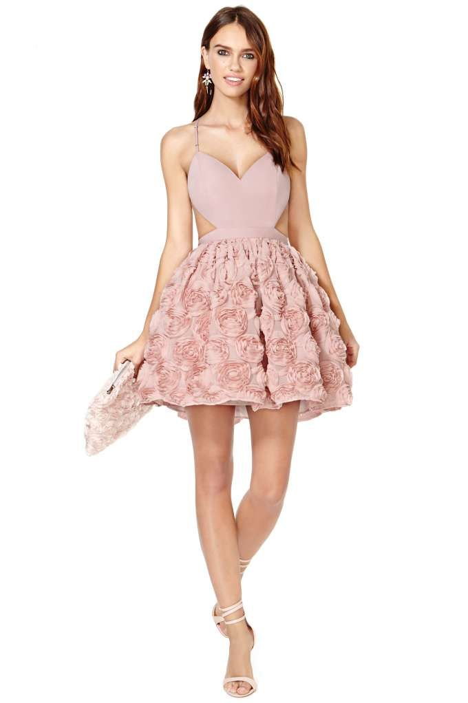 nasty gal blushing blooms dress perfect pale pink for bridal and baby shower bridal