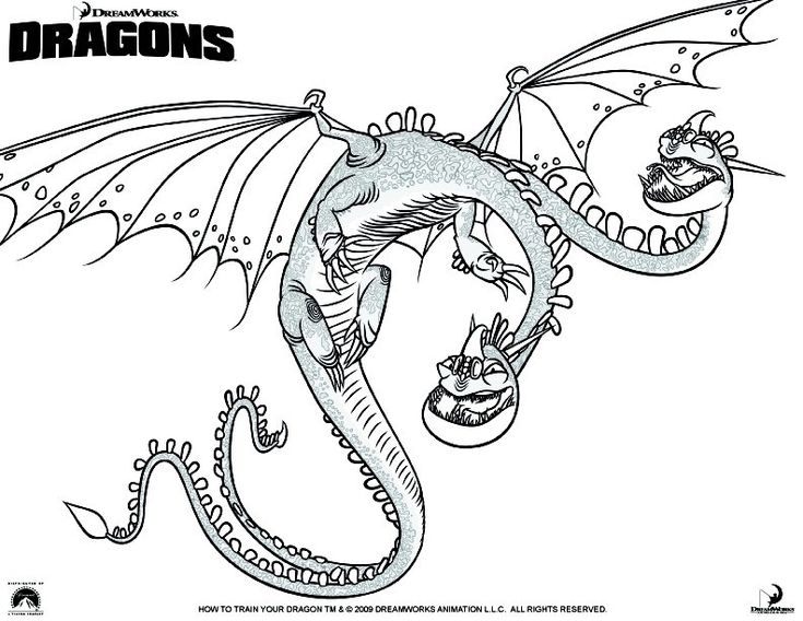 Coloring Page How To Train Your Dragon Printable