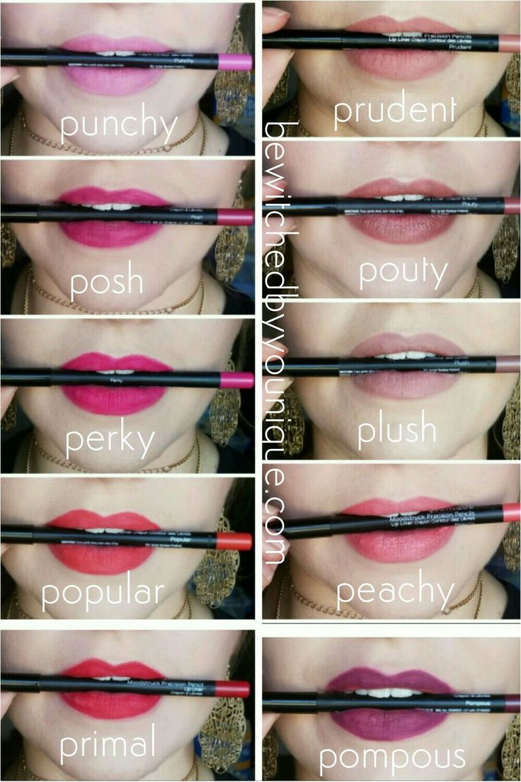 Younique lip liners. Matte lips.