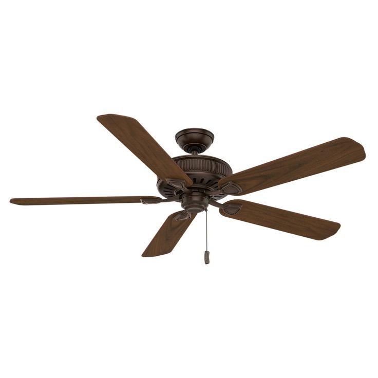 Casablanca 55001 Ainsworth 60-Inch 5-Blade Ceiling Fan, Brushed Cocoa with Dark Walnut/Distressed Walnut Blades