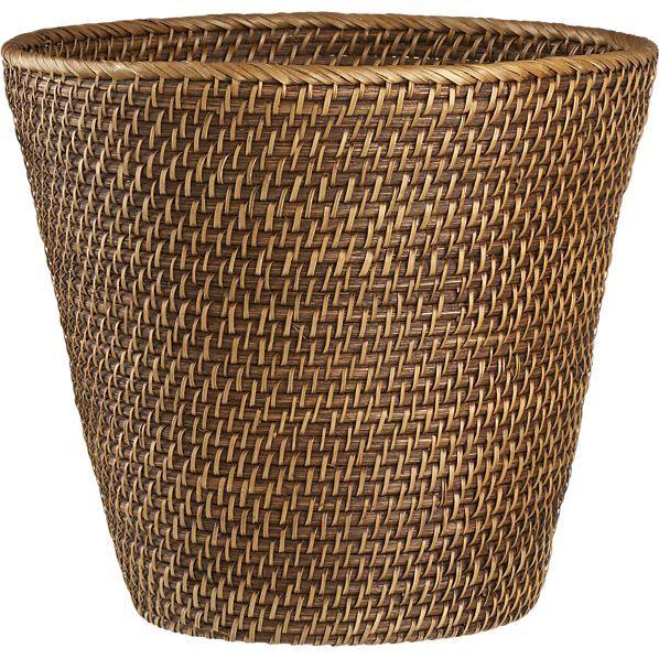 Sedona Honey Tapered Waste Basket/Trash Can