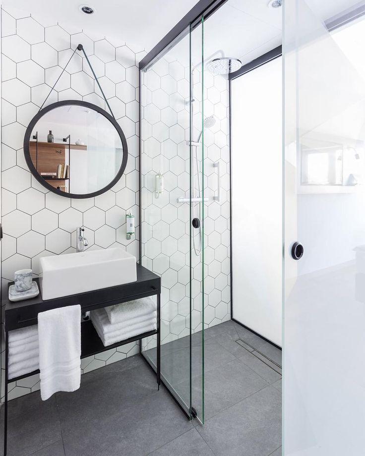 Pedestal Sink, Subway Tile Showers And Medicine Cabinets