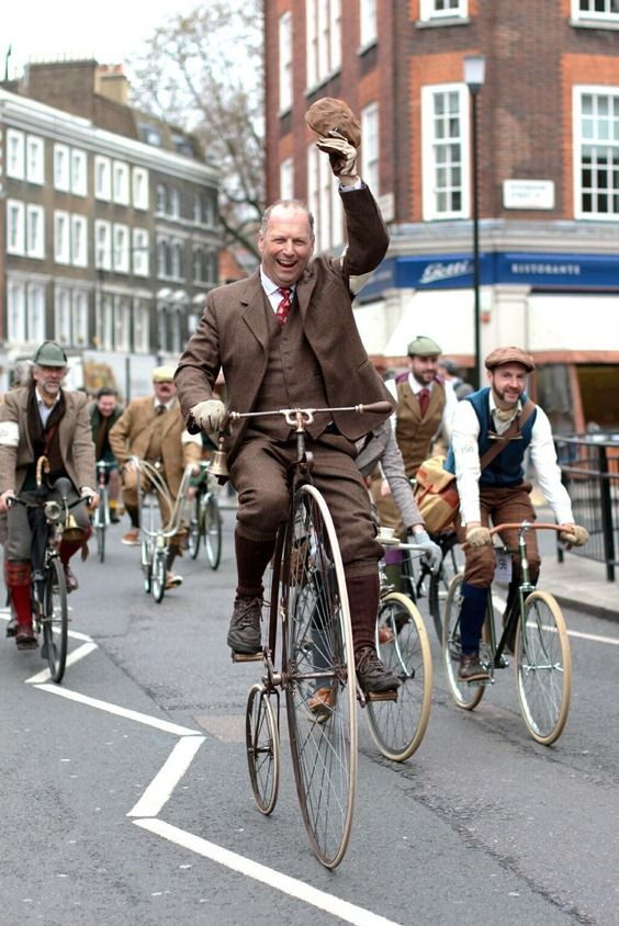 ~ London's Tweed Run ~ traditional English bicycling spirit ~ England ~
