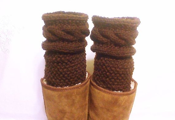 Hey, I found this really awesome Etsy listing at https://www.etsy.com/listing/203561293/brown-knit-legwarmers-boot-knitted-socks