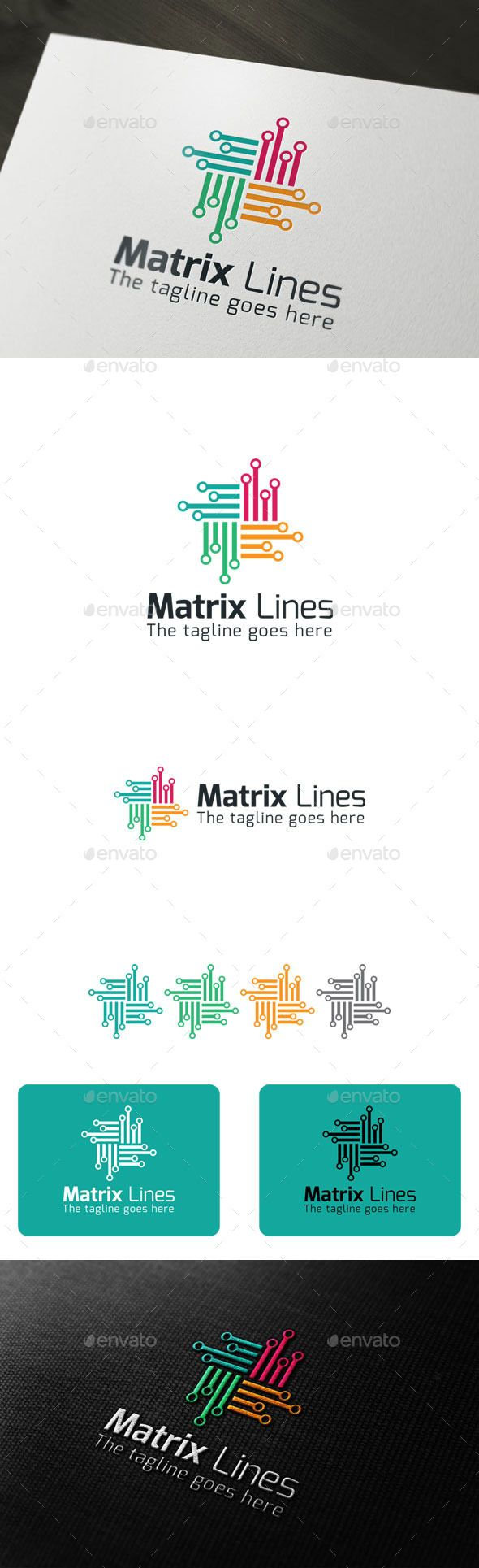 Matrix Lines - Logo Design Template Vector #logotype Download it here: http://graphicriver.net/item/matrix-lines/9700894?s_rank=1494?ref=nexion