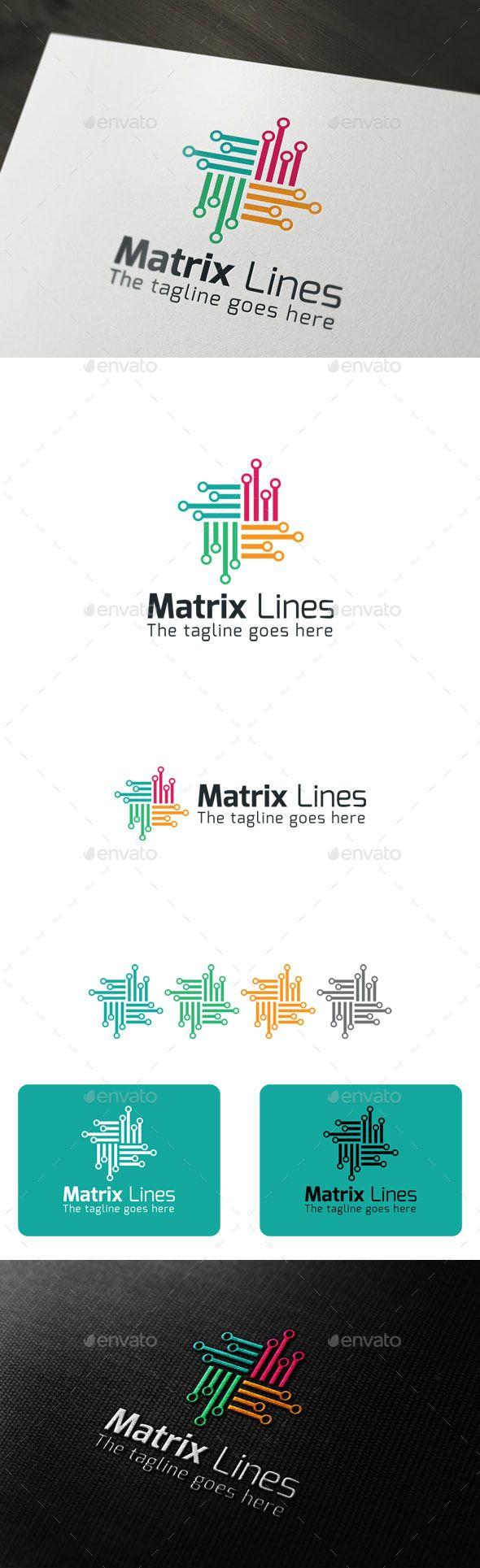Matrix Lines - Logo Design Template Vector #logotype Download it here: http://graphicriver.net/item/matrix-lines/9700894?s_rank=1494?ref=nexion