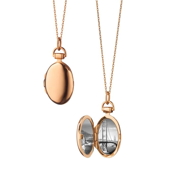 silver oval locket memoirs sterling lockets plated pendant rose gold