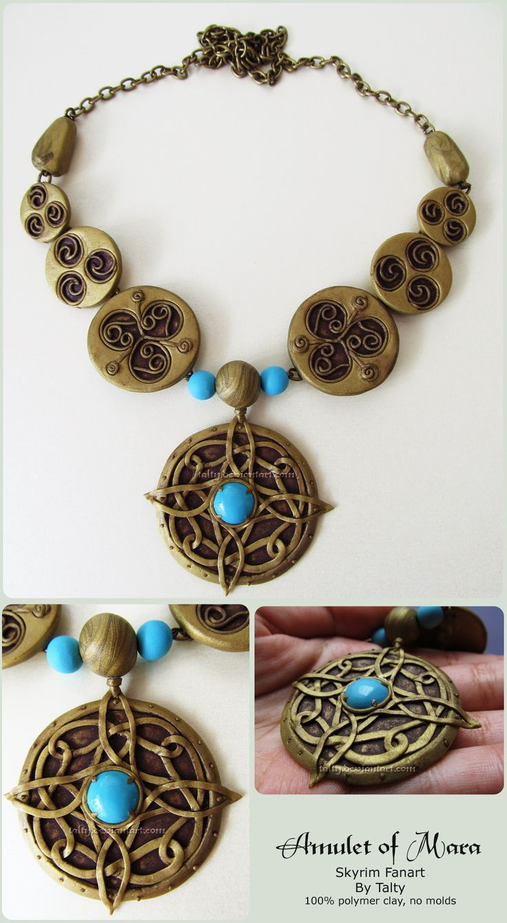 Amulet of Mara Polymer Clay Necklace by Talty.deviantart.com on @deviantART