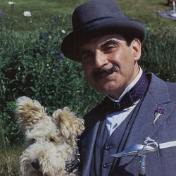 Hercule Poirot in my very favourite episode : Death in the Clouds