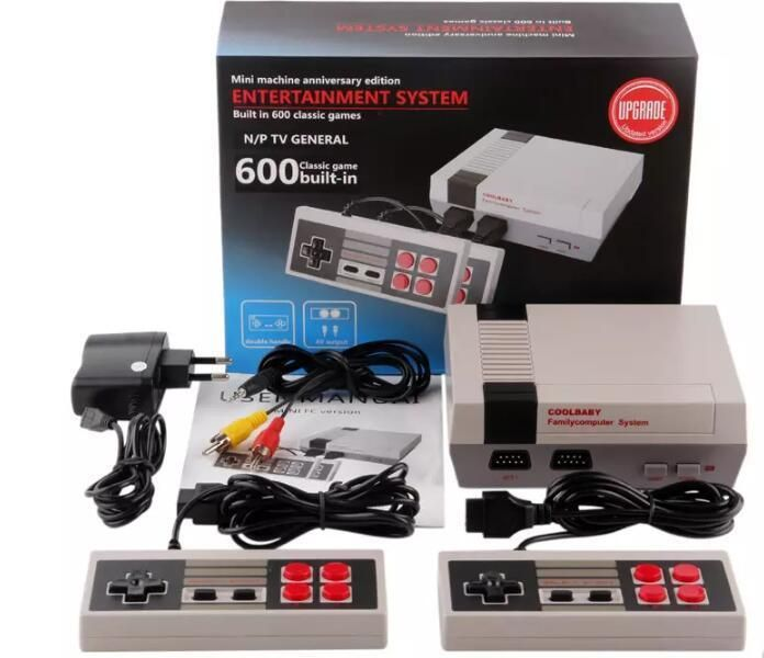 Mini Retro TV Game Console Classic 600 Built-in Games with 2 Controllers New #HeroHM_Store