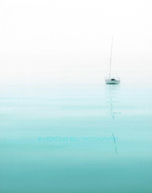 Photography / nautical / sailboat / minimalist / beach house decor / Nautical No. 1, 8 x 10 print. $40.00, via Etsy.