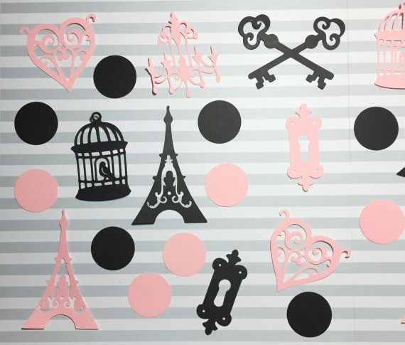 Paris Theme Party Cutouts  Paris Party Decor  Paris Bridal