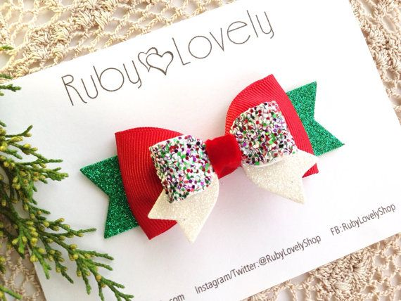 Hey, I found this really awesome Etsy listing at https://www.etsy.com/listing/255959564/babygirls-christmas-bows-christmas