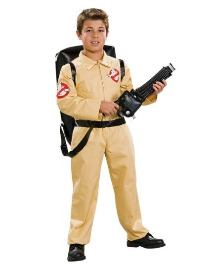 """Ghostbusters Costume, Kids Ghostbusters Outfit Style 2, Large, Age 8 - 10, HEIGHT 4' 8"""" - 5'"""
