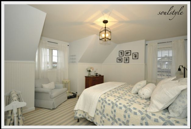 DIY::Cape Cod Style Rooms, love the quilts
