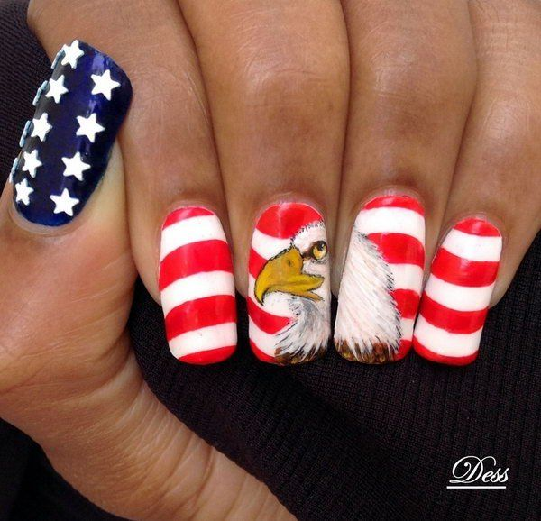 532 best 4th of July nail art images by Jennifer Keller on Pinterest ...