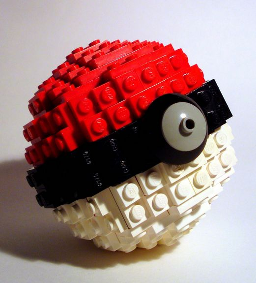 LEGO Pokeball haha gotta catch them all lol -totally gonna get me some legos and make this!!!