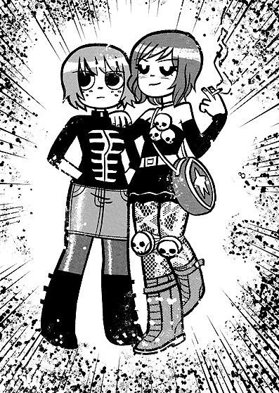Kim Pine and Ramona Flowers (From Bryan Lee O'Malley's tumblog)