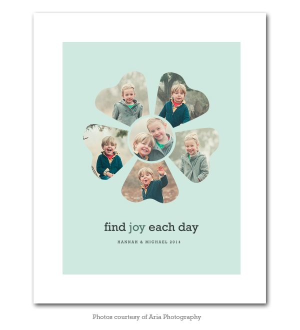 16 x 20 Collage Template - Find Joy Each Day Collage