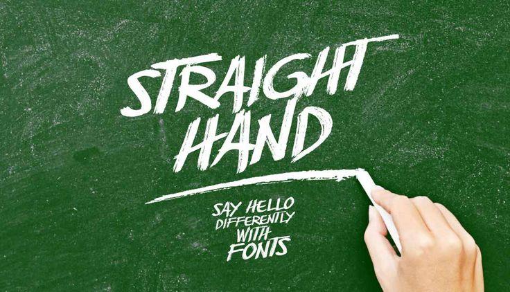 Straight Hand Font on Behance