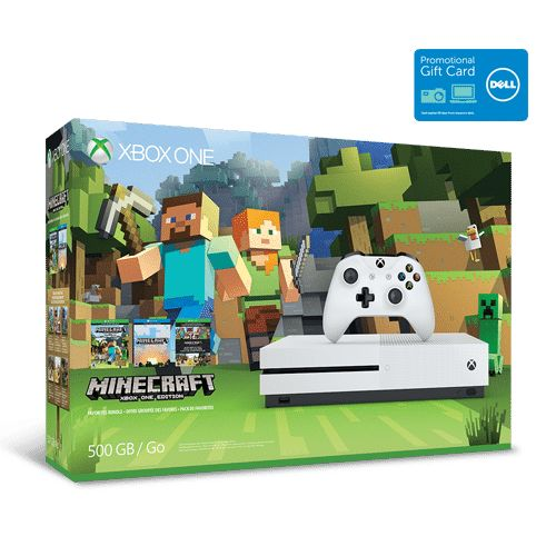 Xbox One S 500 GB Minecraft Bundle or PS4 Slim 500 GB Uncharted 4 bundle  $50 Dell Promo eGift Card for $299.99...