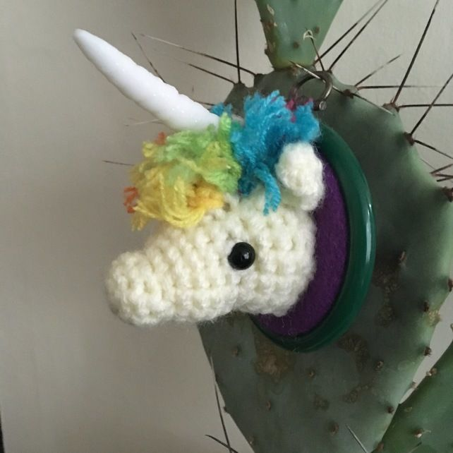 Crochet rainbow unicorn fauxdermy  £15.00
