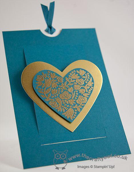 The Crafty Owl's Blog | Island Indigo Flowerfull Heart Slider Card