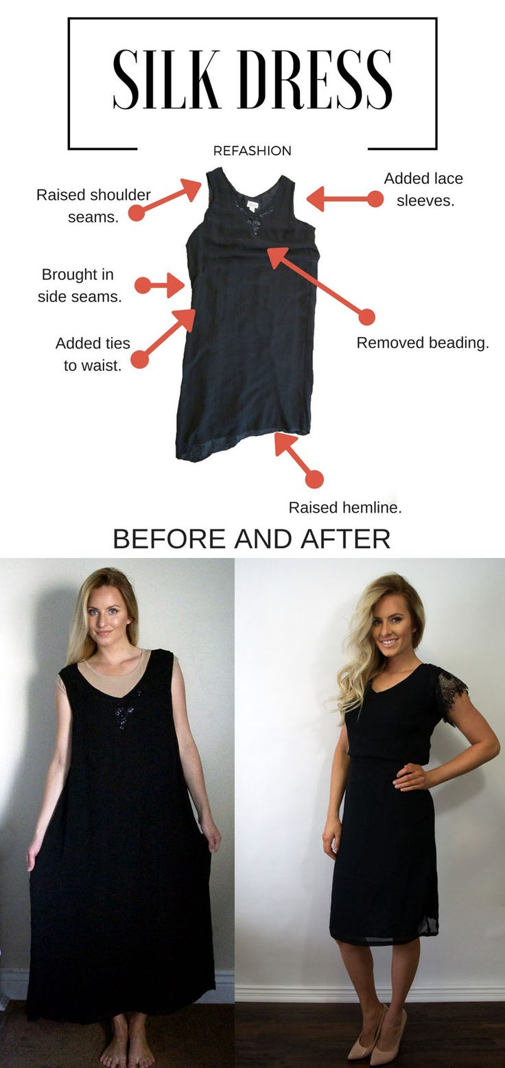 WHILE CAMDEN SLEEPS // Silk dress refashion Tons of ideas on this site.