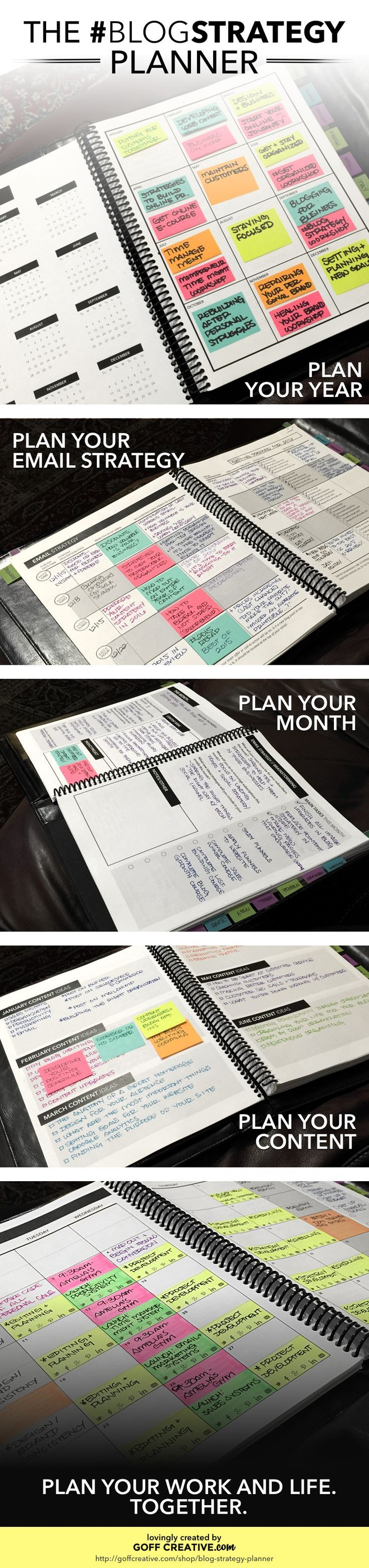 #BlogStrategy Planner Preview | http://GoffCreative.com