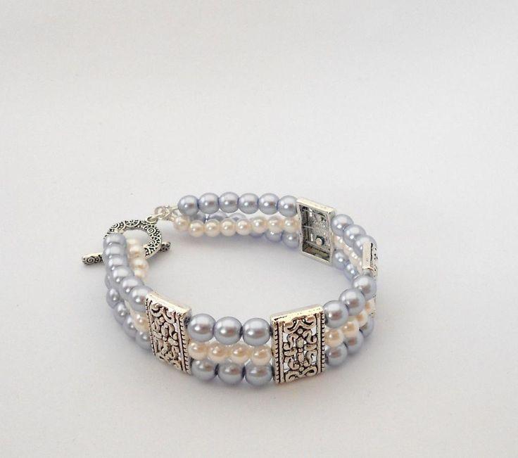 3 strand bracelet. - via @Craftsy