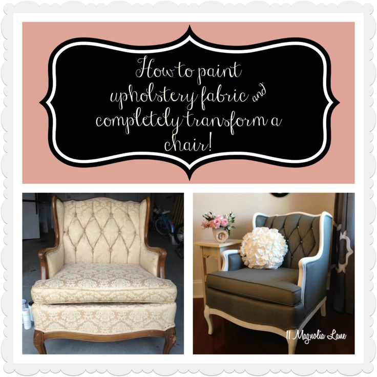 http://www.11magnolialane.com/2013/09/09/tutorial-how-to-paint-upholstery-fabric-and-completely-transform-a-chair/