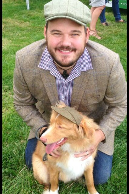 Rob Slatter, manager of Rohan Stow-on-the-Wold, and his dog Huddy at Moreton-in-Marsh Show. Rob guest blogged for us on the Go Cotswolds blog (Image copyright Robert Slatter, used with permission).