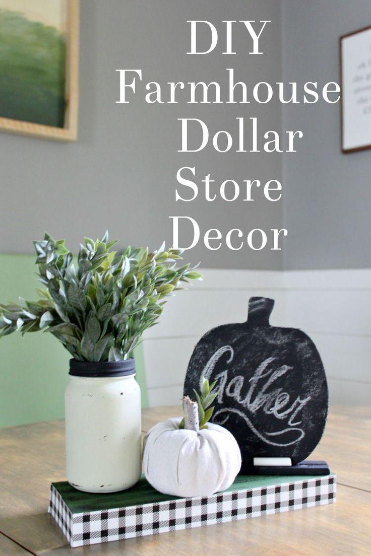DIY Farmhouse Dollar Store Decor – How to make thi…